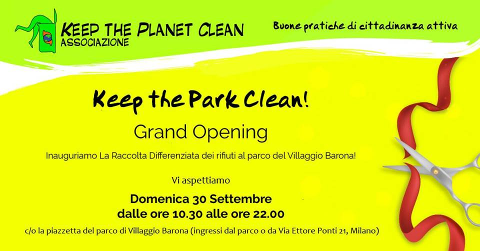 Keep the Park Clean! Grand Opening