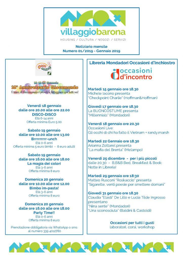 2019 01 01 - Villaggio Barona - Mese di Gennaio_Pagina_1